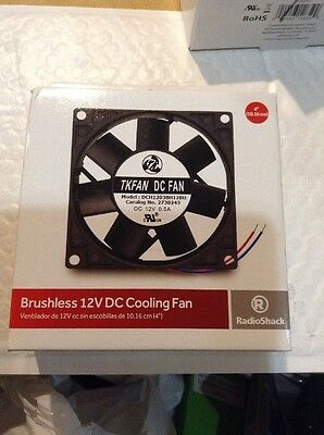 RADIO SHACK 4 INCH BRUSHLESS 12V DC COOLING FAN- 2730243 Brand New Fresh Stock