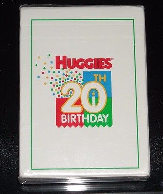 Vintage Huggies Diapers 20th Birthday Deck of Playing Cards - NEW Sealed