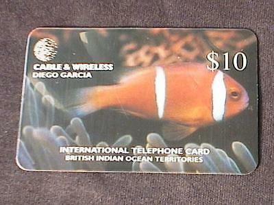 2 DIEGO GARCIA Fish and Coral Telephone telephone cards