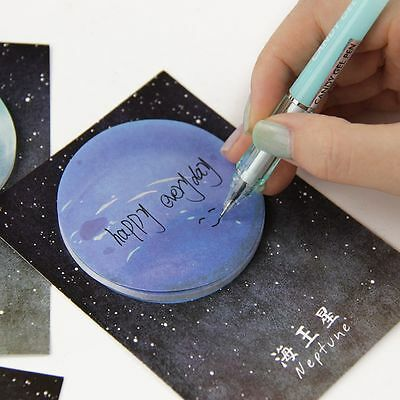 Korean Cute Bookmarks Moon Stickers Memo Round Shape Sticky Sedna Notes 30