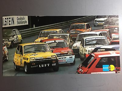 1981 ONS Renault 5-Elf-Cup Race Car Picture, Print, Poster RARE!! Awesome L@@K