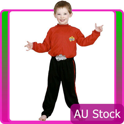 The Wiggles Red Simon Costume Boys Premium Child Kids Book Week Party Dress Up