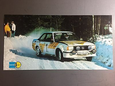 1981 Opel Ascona A 400 Coupe Rally Race Car Picture, Print, Poster RARE! Awesome