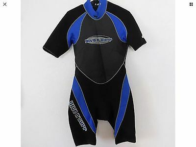 DIVE N' SURF Scuba Wet Suit Men M Black & Blue 2.2 mm