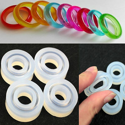 4 size/set Resin Ring Mold Making Casting  Silicone Jewelry Rings Moulds Tools