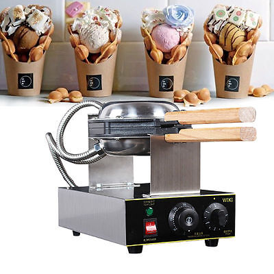 Stainless Steel Electric Egg Cake Oven QQ Egg Waffle Maker Egg Waffle Machine US