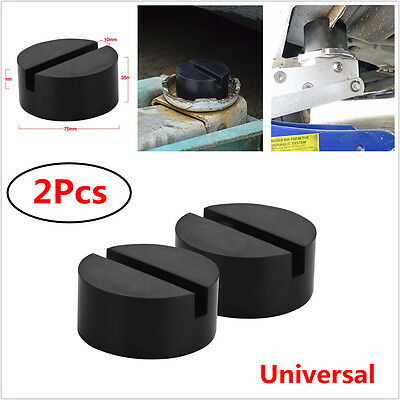 2x Rubber Slotted Frame Rail Floor Jack Disk Adapter for Pinch Weld Side JackPad