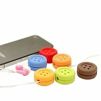 Cord Button Wire Wrap Hot Cable Winder Holder For Headphone Earphone Organizer