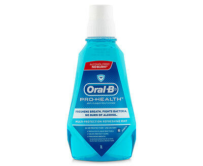 Oral-B Pro-Health Anti-Plaque Mouth Rinse Refreshing Mint 1L