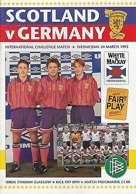 SCOTLAND v GERMANY ~ 24 MARCH 1993 ~ INTERNATIONAL FRIENDLY