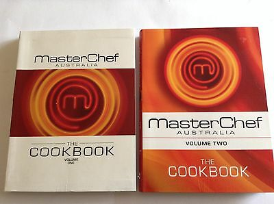 2 MASTERCHEF AUSTRALIA COOK BOOKS - VOLUME ONE & TWO Bulk Lot