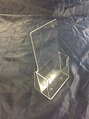 5 x brochure holder stand - DL size clear plastic for menu and products