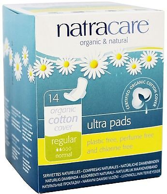 Natracare Natural Ultra Pads with Wings, Regular 14 ea (Pack of 5)