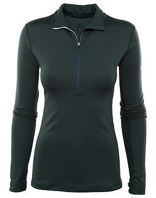 Nike Pro Hyperwarm Womens 803120-364 Seaweed Dri-Fit Training Top Shirt Size M