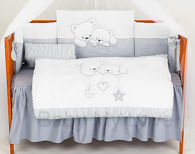 LUXURY 3pcs BABY BEDDING SET/bumper/pillowcase/cover TO FIT BABY COTor COT BED