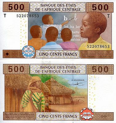 CONGO 500 Franc Banknote World Paper Money UNC Currency Pick p-106T C.A.S. Bill