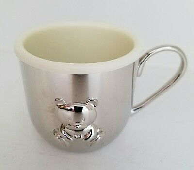 Vintage THINGS REMEMBERED Silver Baby Boy Cup with Bear