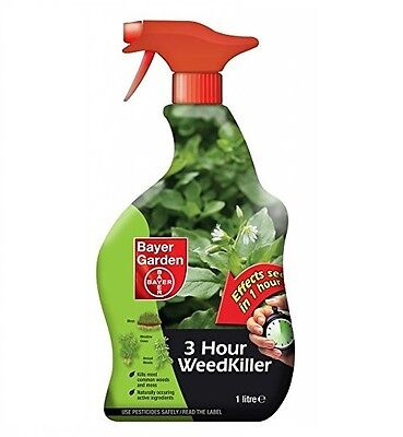 Bayer Garden 3 Hour Weed Killer Spray Ready to Use Weedkiller Control 1 Litre