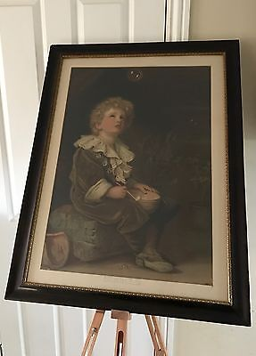 Very Large Framed Vintage Print Of The Famous Bubbles Pears Advertisement