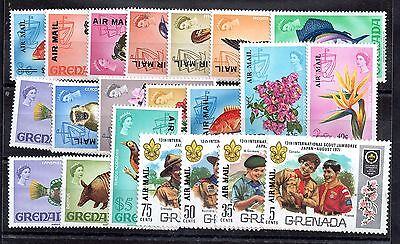 Grenada 1972 Airmail complete MNH set SG501-21 WS3846