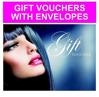 Beauty Salon Gift Vouchers Blank Card Coupon Nail Massage with Envelopes UK