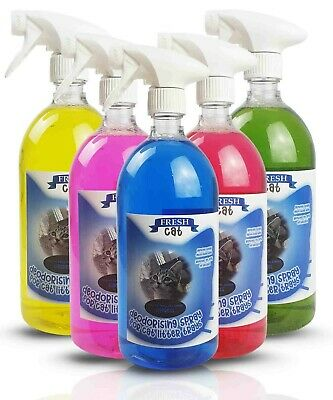 FRESH-CAT Cat Litter Tray Deodorising Spray 1L -  Multiple Fragrances FRESH PET