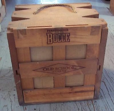 Vintage Performance Bocce Set with Wood Carrying Case