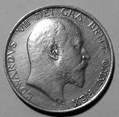 Great Britain 1905 King Edward VII rare shilling  EF