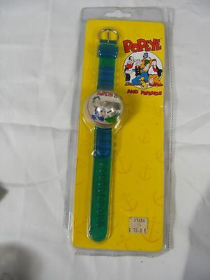 Vintage 1995  Popeye And Friends Spinach Bubble Watch (New)