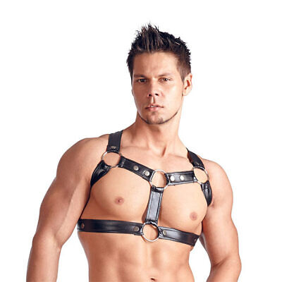 "Herren Wetlook Brust Harness in Leder Optik Riemen Bondage S M L XL ""Johannes"""