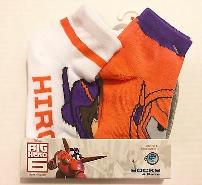 New Disney Big Hero 6 Baymax Socks Kids 4T-5T ~ Kids Baymax Socks Size 8-11