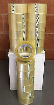 """72 Roll Box Carton Sealing Packing Tape 1.8 MIL  2""""x110 Yards(330' ft) Clear"""