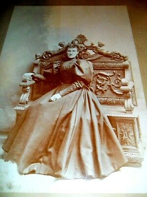 Vintage 6x8 in. Victorian Photographic Image of Woman