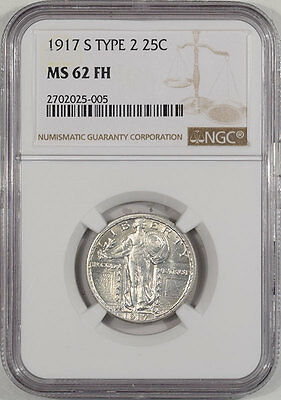1917-S Standing Liberty Quarter - Type Ii Ngc Ms-62 Fh. From The Reeded Edge!