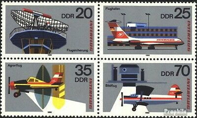 DDR 2516-2519 block of four (complete.issue.) FDC 1980 Interflug
