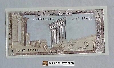 Lebanon  1 Livre Note Unciculated Condition