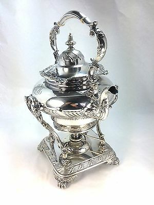 Antique Elegant Tiffany & Co. Makers Silver  Superb Tea Kettle & Warmer
