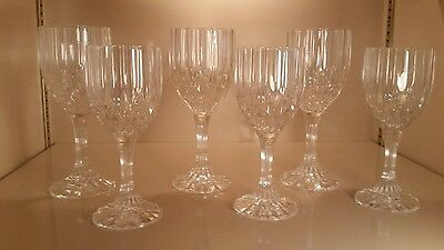 Cristal D'Arques Longchamp Cordial Glasses Lot of 6 24% Lead Crystal Durand