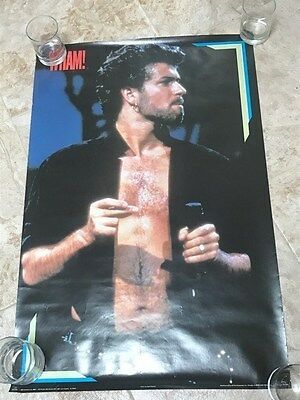 Superb Collectible! 1985 Whamamerica Poster George Michael! Wham! Near Mint!