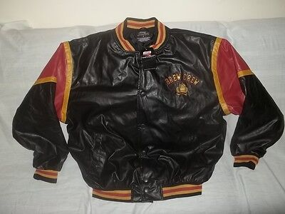 Unworn STEVE & BARRYS BEER BREW CREW TASTE TESTER FAUX LEATHER JACKET Men's L