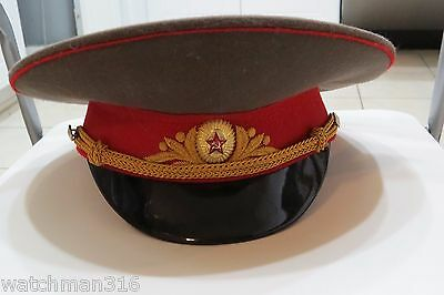 Vintage Soviet Russian Visor Cap Hat 4 Uniform tunic WWII Red Army German Helmet