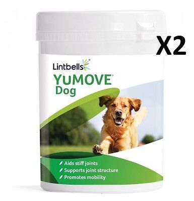 Yumove Dog Joint Supplement 300 Tablets x2 (600 Tablets) Lintbells Joint Support