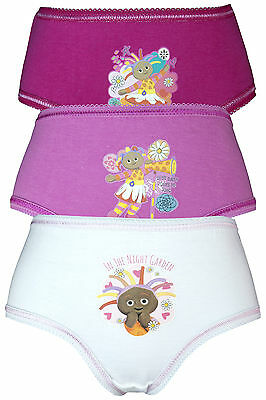 In the Night Garden Upsy Daisy 3 Girls Pants / Knickers - Pink
