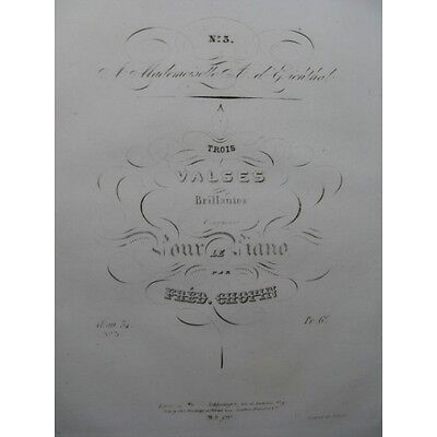 CHOPIN Frédéric Valse op 34 No 3 Piano 1838  Partition Sheet Music Spartiti Part