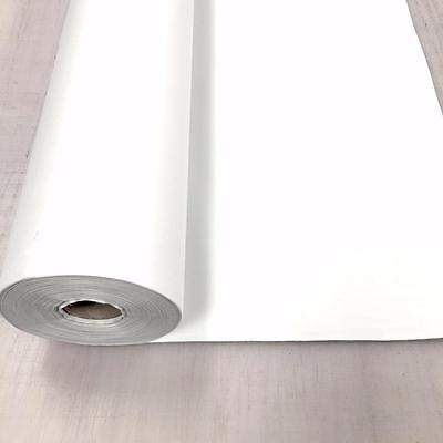 WHITE 3 Pass Black out Blackout Material Thermal Curtain Lining Fabric 137cm