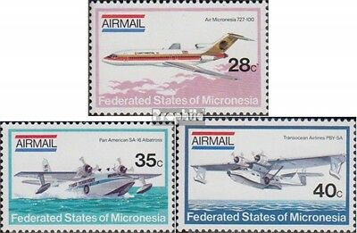 Mikronesien 21-23 (complete.issue.) unmounted mint / never hinged 1984 Aircraft