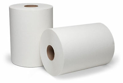 "Wausua Paper Dubl-Nature 7.5"" White Towel Roll 78060 case of 12"