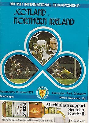 SCOTLAND v NORTHERN IRELAND ~ 1 JUNE 1977 ~ BRITISH CHAMPIONSHIP