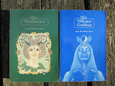 2 Books The Witches' Goddess/The Witches' God Janet & Stuart Farrar Wicca Pagan