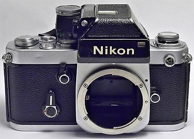Vintage Nikon F2 SLR Camera Body With Viewfinder, As Is For Parts.